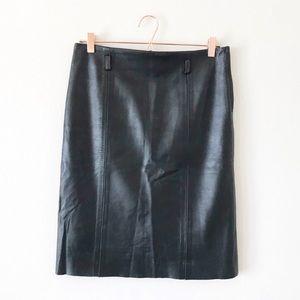 VINTAGE • leather skirt